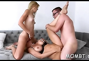 Lovely trio pleasuring