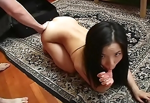 He gets an suprise from his boss s horny thai slut
