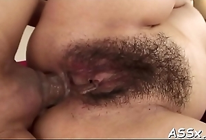 Oriental anal drilling and snatch toying