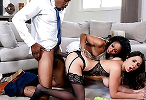 Ashley Adams has an interracial triad with Unreliable Stone and Isiah Maxwell