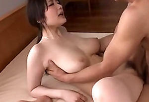 Busty Rie Tachikawa works great on man´s big cock - More at one's fingertips Japanesemamas com