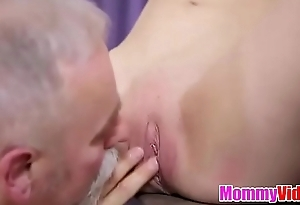 MommyVid.com - sexy Helena blows old man