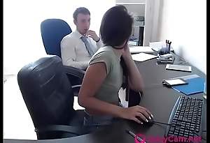 Hot Teen Fucks Colleague At Work On Webcam part 2 - more at JuicyCam.net
